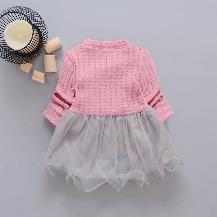 new-spring-Autumn-Casual-baby-princess-Long-Sleeve-Kids-Sweet-Knit-top-mesh-patchwork-infant-Children-girls-Dress-Y2059-2