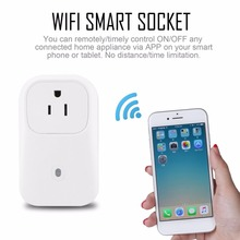 все цены на Wifi Smart Socket Intelligent Power Plug Remote Control Socket Outlet Switch APP Timing Switch for Smart Home Automation онлайн
