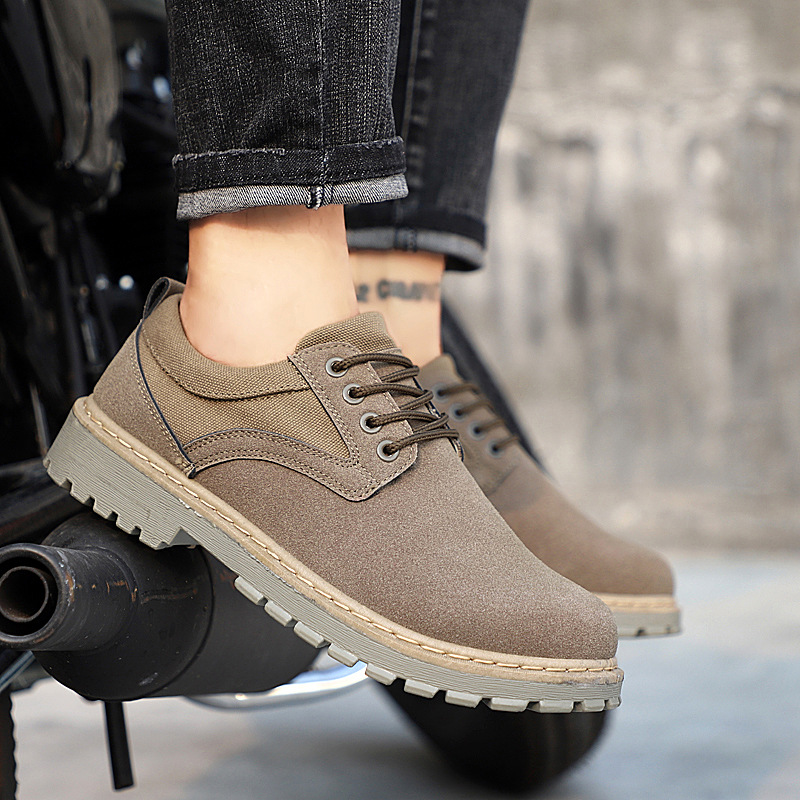 2018 Wildleder Leder Männer Stiefel Herbst Winter Stiefeletten Mode Schuhe Lace Up Schuhe Männer Hohe Qualität Männer Schuhe Warmes Lob Von Kunden Zu Gewinnen