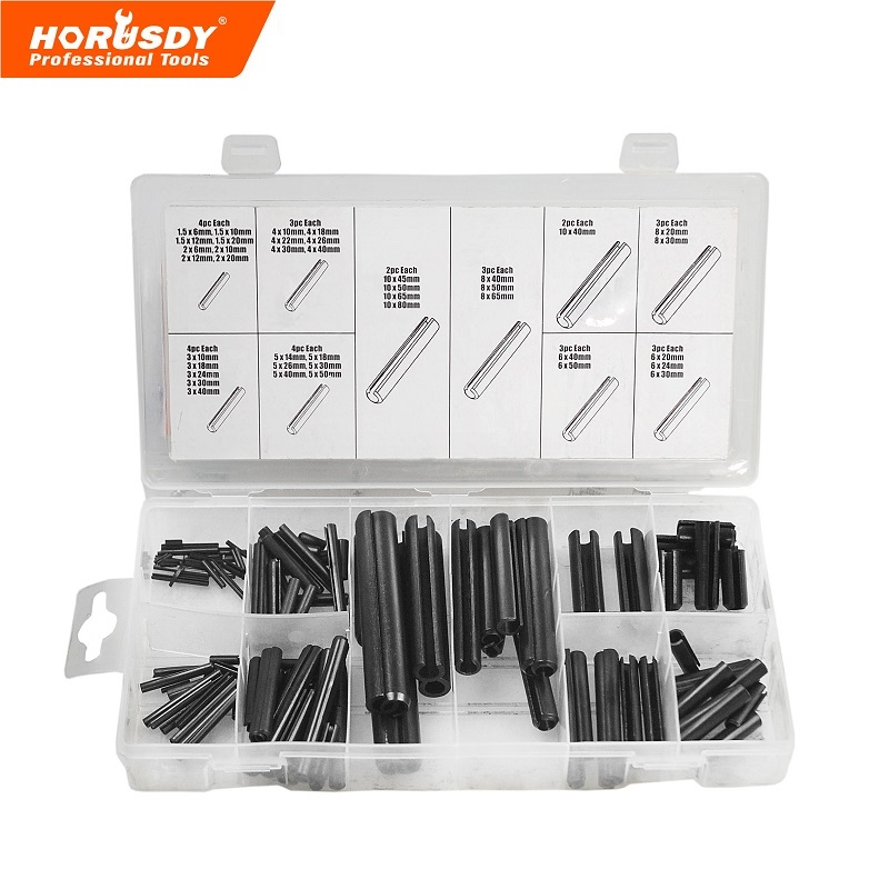 HORUSDY 134 PC Metric Roll Pin Assortment Hand Tool Parts spare parts plastic case Professional Industry Tool 2017 brush cutter parts limited time limited hand tool parts carburador 14 8 2cm plastic stackable trays 8pcs lot ad1009