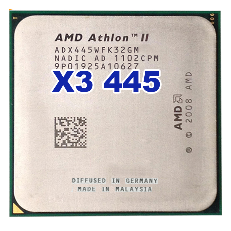 CPU AMD Athlon II X3 445 3.1 GHz Triple-Core Socket AM2+ AM3 Desktop CPU Processor free shipping image