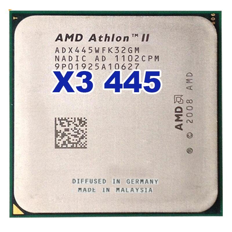 CPU AMD Athlon II X3 445 3.1 GHz Triple-Core Socket AM2 + AM3 Bureau CPU Processeur livraison gratuite