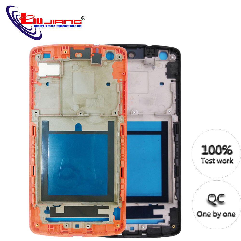 New Frame For LG For Nexus 5 D820 D821 LCD Middle Frame Front Bezel Housing Replacement Parts