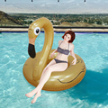122CM Gold PVC Inflarable Child Adult Swimming Ring for Summer Vacation Beach Swimming Inflated Toys Outdoor Fun Water Sports