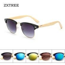 ZXTREE Fashion Brand Design Mujeres Hombres Vintage Gafas de Sol De Bambú de Madera Natural Mens Retro gafas oculos gafas de sol Z94