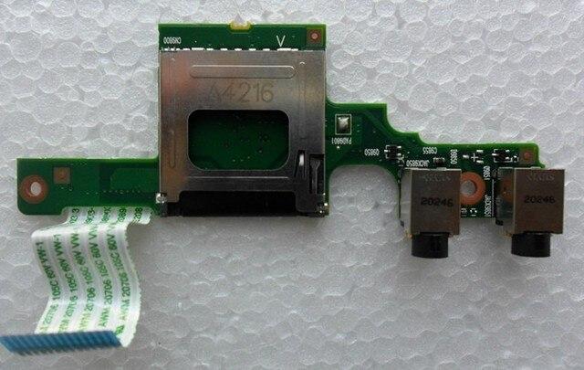Placa del panel de audio con el cable para hp cq321 cq320 cq326 cq325 421 425 621 620 625 tablero de tarjeta de sonido auriculares jack Envío gratis