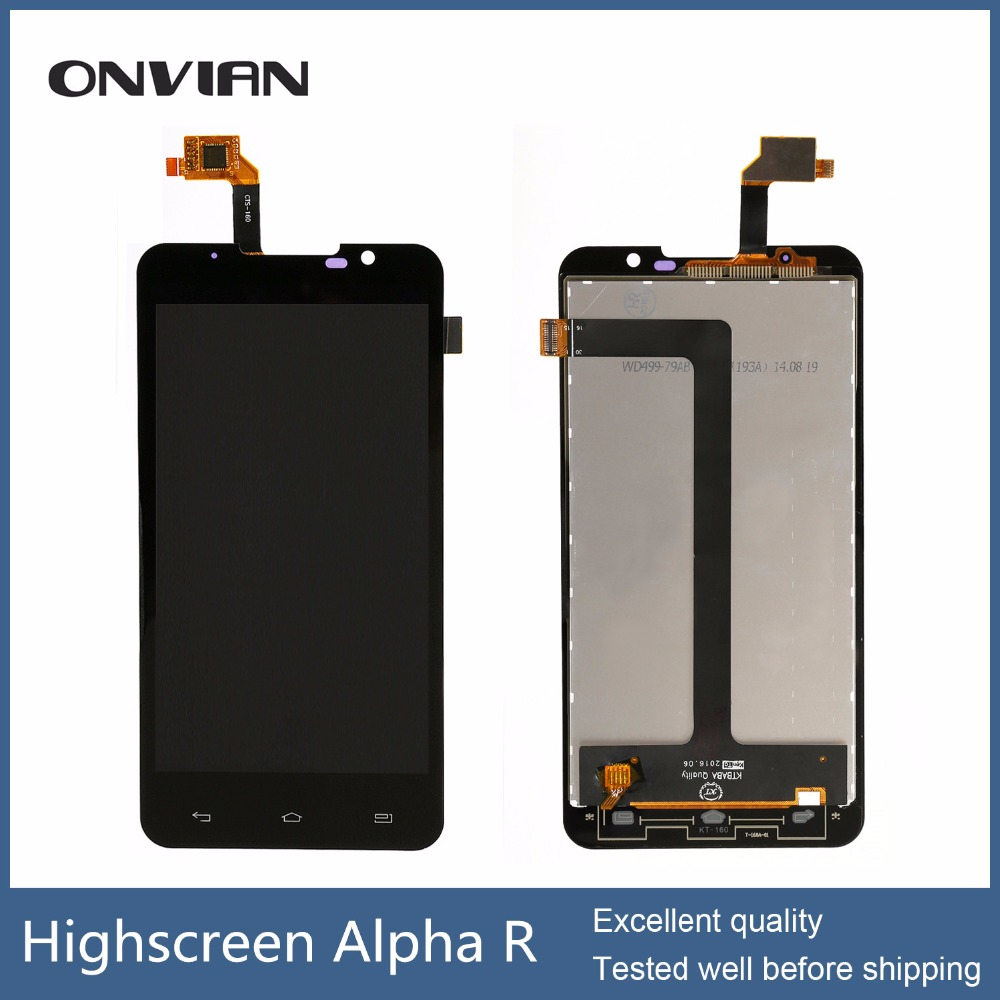 Подробнее о Highscreen Alpha R LCD Display Touch Screen Digitizer Glass Sensor Full Assembly Repartment Parts for 5 Inch Black new 5 2 inch for huawei honor 7 lcd display monitor with touch screen digitizer glass sensor full assembly repartment