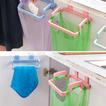 1 sztuk gadżety kuchenne drzwi do szafki worek na śmieci półka narzędzia kuchenne półka wisząca przechowywanie kosz na śmieci akcesoria kuchenne towary tanie i dobre opinie Z tworzywa sztucznego Stocked Eco-Friendly hooks for hanging hooks for towels bag holder