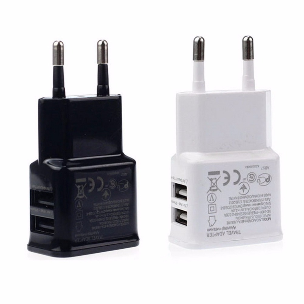 1pcs 2a Dual 2 Ports Usb Eu Wall Charger Adapter For Samsung Black Oud Pcs Iphone Htc Moto Perfect In Chargers From Consumer Electronics On
