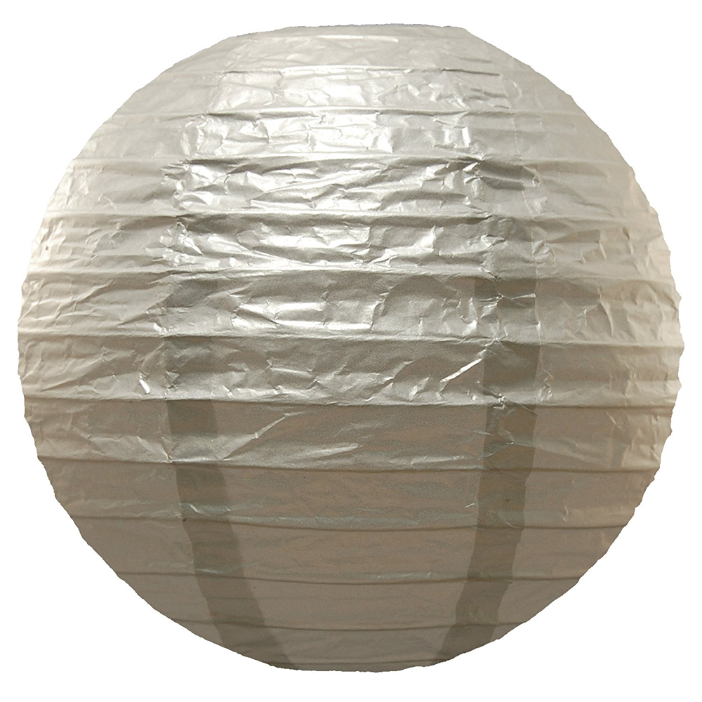 10pcs Metallic Gold Silver Wedding Decoration Paper Paper Paper Lantern Ball ... 72f71b