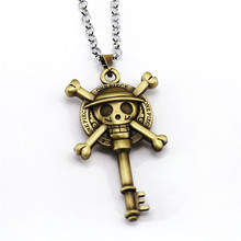 White Beard & Luffy Pirates Bronze Metal Necklace