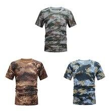 Тактическая камуфляжная рубашка, Охотничья камуфляжная рубашка, дышащая быстросохнущая Свободная Повседневная футболка, Топы, одежда, колготки для мужчин и женщин, для охоты