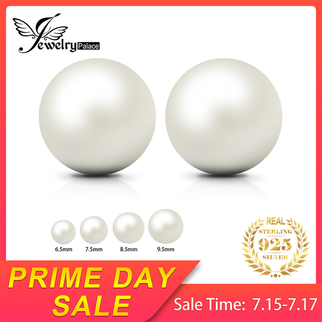 Natural Round Freshwater Pearl Stud Earrings