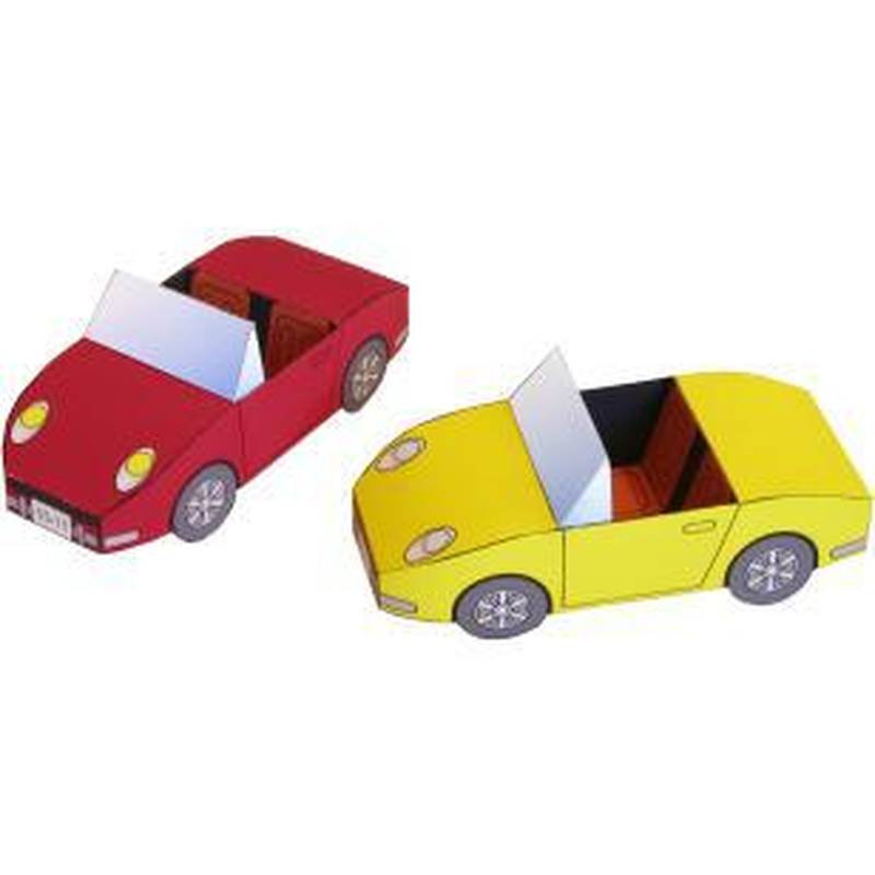 Convertible Car Model Sports Car 1:20 3D Paper Model Space Library  Papercraft Cardboard House for Children Paper Toys