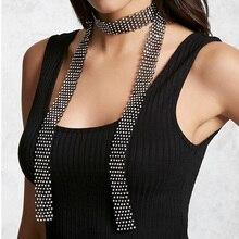 Горячие Новые модные аксессуары Богема черный DIY кристалл длинное ожерелье для пара влюбленных N332