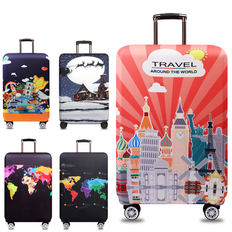 Elastic Thick Luggage Cover Apply To 18''-32'' Suitcase,Suitcase Protective Cover For Trunk Case Travel  Accessories 302