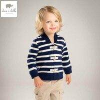 DB4529 Davebella Spring Baby Boys Baseball Jackets Cool Fashion Coat Super Sport Jersey Clothes Navy Striped