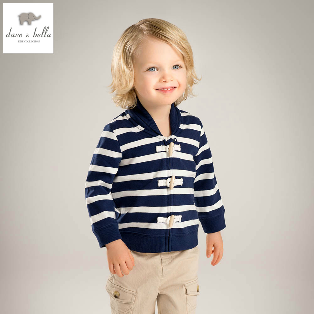 ФОТО DB4529 davebella spring baby boys baseball jackets cool fashion coat  super sport Jersey clothes navy striped coat