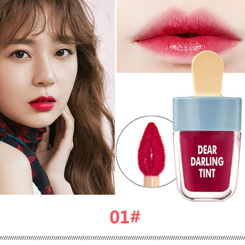 New Stylish Makeup Long-lasting Waterproof Ice Cream Lip Gloss Tint Glosses Set Beauty Cosmetic Liquid Lipstick 4