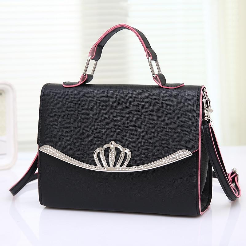 RanHuang Women Candy Color Casual Handbags PU Leather Small Shoulder Bags Female Designer Messenger Bags Blue bolsa feminina A35 4