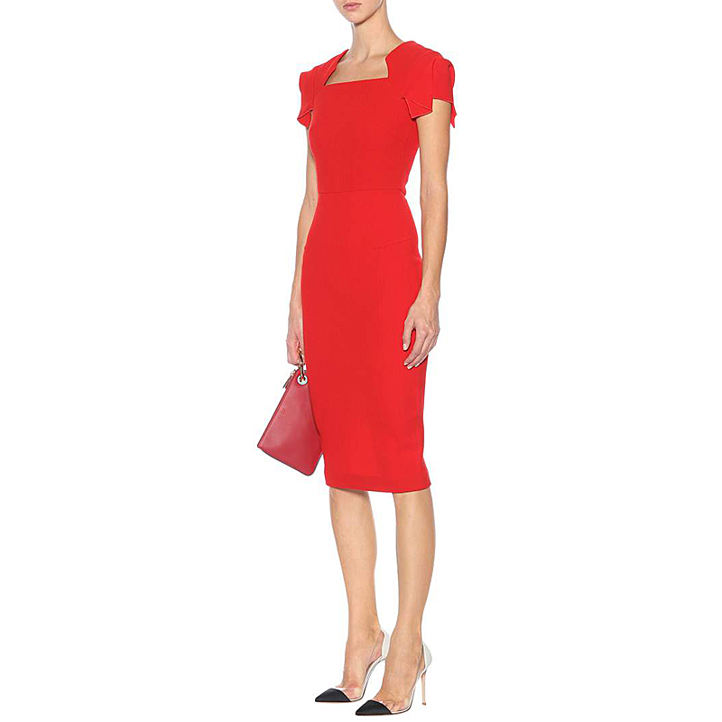 Victoria Dress Runway High Quality 2018 Spring Summer New Women Party Fashion Sexy Celebrity Bodycon Vintage Elegant Red Dresses-in Dresses from Women's Clothing    1