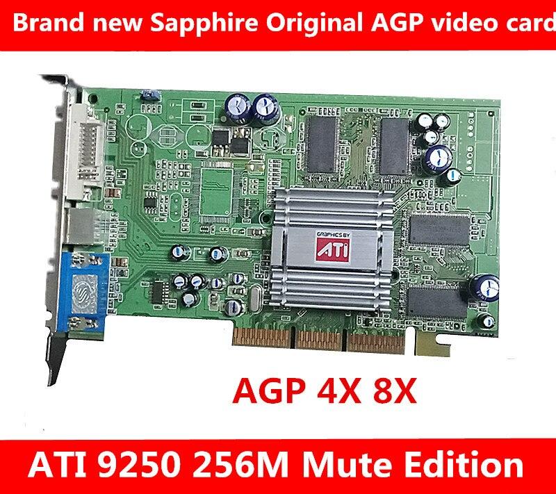 Nouvelle édition d'origine ATI Radeon 9250 256 M muet Compatible avec la carte vidéo AGP8X et 4X carte mère AGP