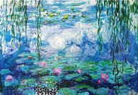 Water lilies The wooden puzzle 1000 pieces ersion paper jigsaw puzzle white card adult children's educational toys
