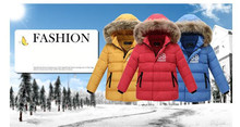 New Winter Down Coat Boy Thickening Warm Children Clothing Baby Kids Down Jacket Parkas Boys Winter Fur Collar Jacket Outerwear