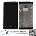 Garantía 100% original y nuevo para nokia lumia 920 negro Pantalla LCD + Digitizador de la Pantalla Táctil + marco Frontal libre shippinp