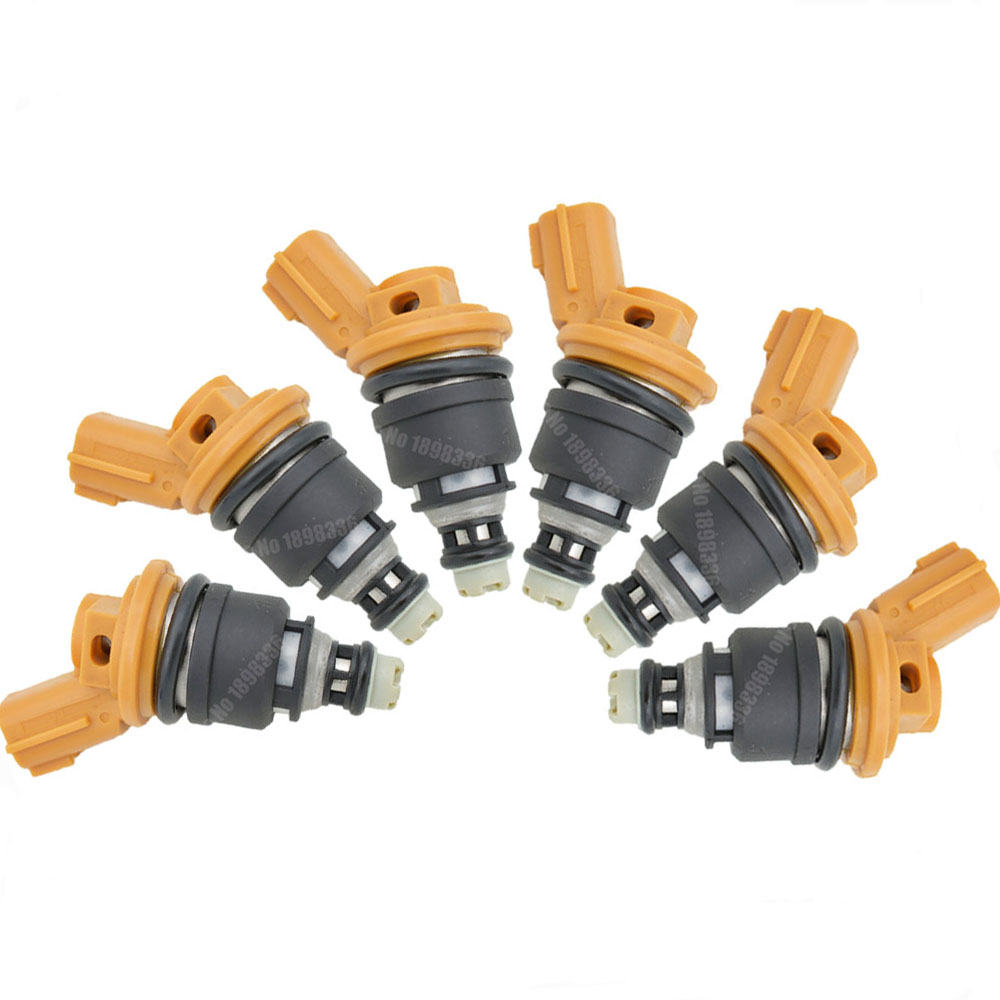 6pcs/lot fuel injectors 550cc yellow top replace for Nismo 16600 RR543 RB25 SR20 S13 S14 S15-in Fuel Injector from Automobiles & Motorcycles    1