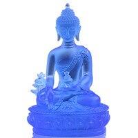 medicine guru buddha crystal ornaments pharmacists buddha resin Eliminate the evil out protect peaceful buddhist maitr STATUE