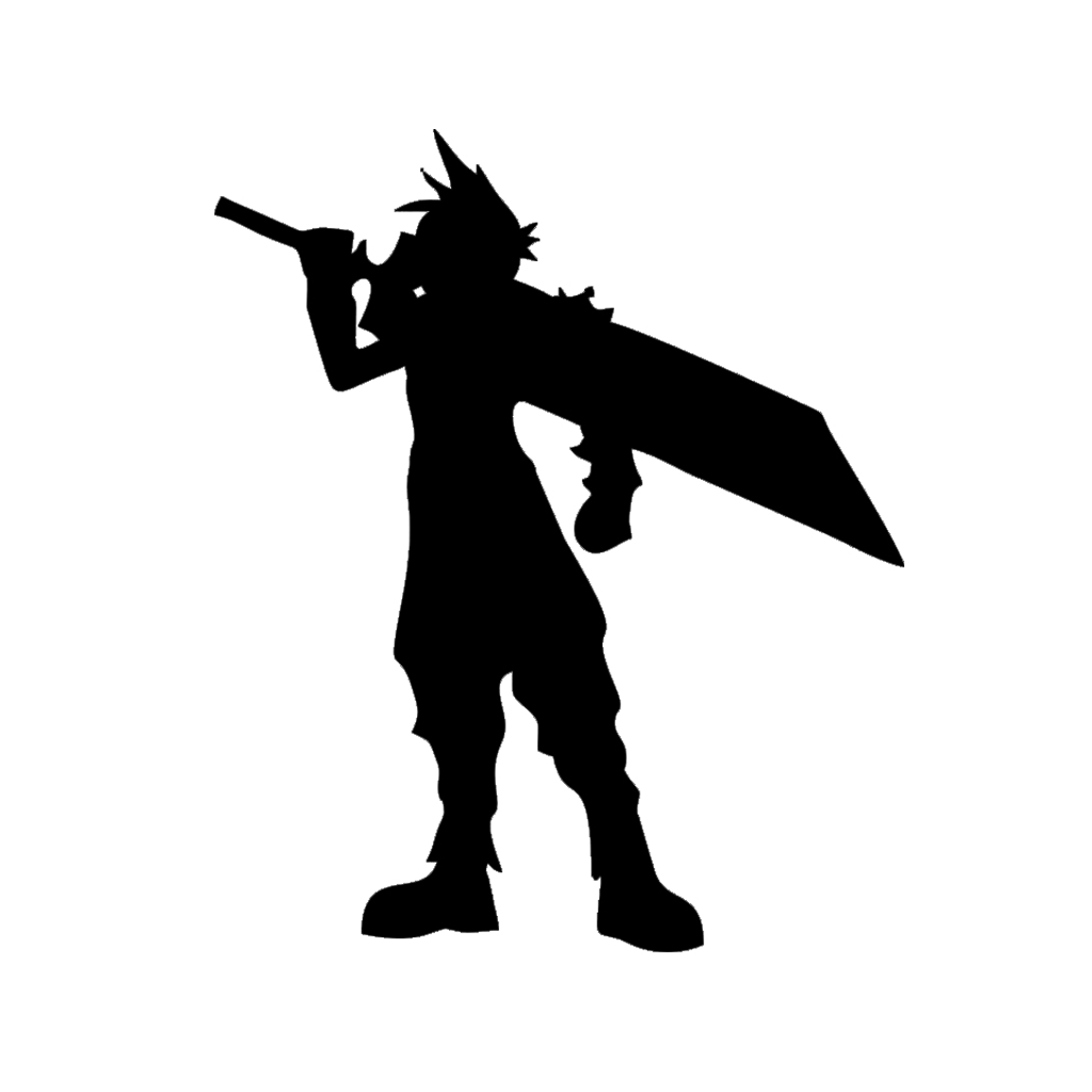 Character Cloud Final Fantasy Game Vinyl Car Sticker Decorative Decal Accessories image