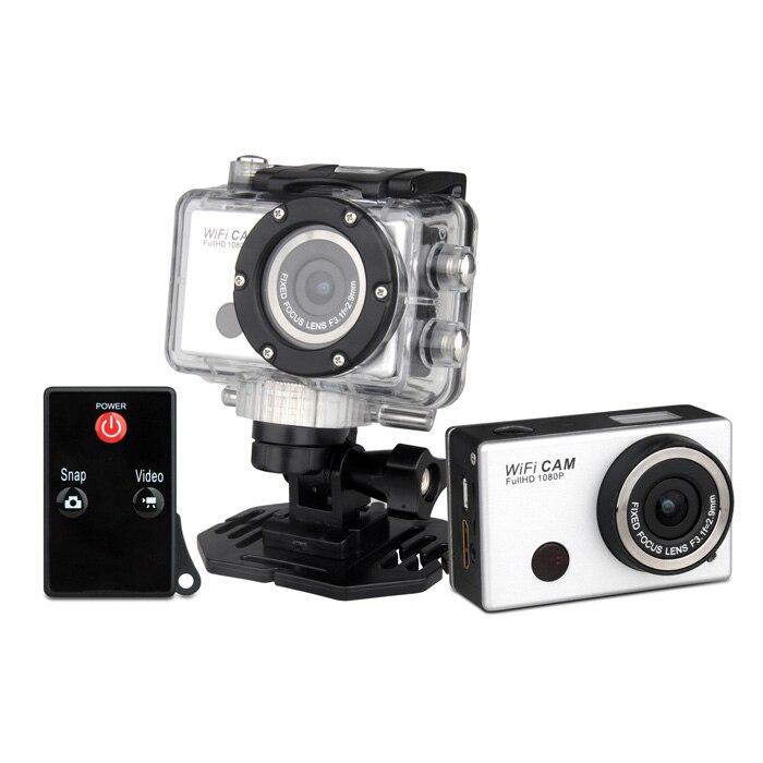 Caméra vidéo numérique étanche wifi Winait HD1080p, caméra d'action à affichage TFT 2.0 ''avec caméscope sport grand angle 170 degrés