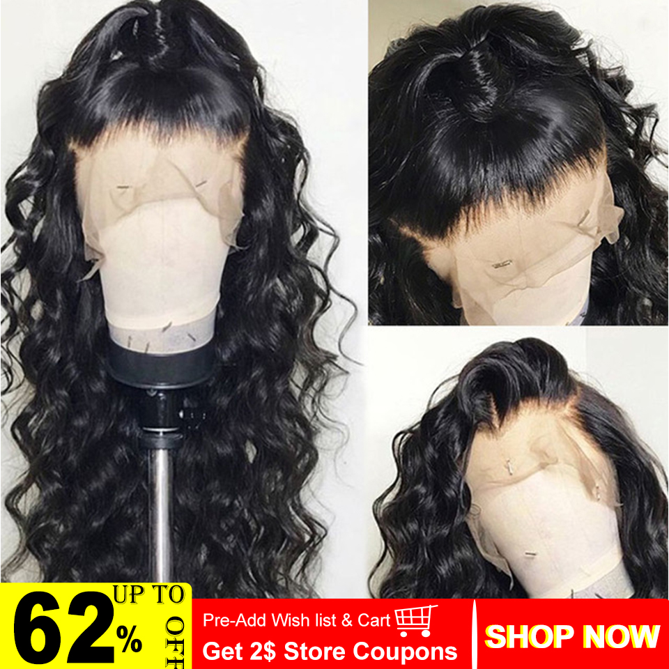 Indian Hair 360 Lace Frontal Wig And 13x4 Loose Wave Human Hair Wigs With Baby Hair