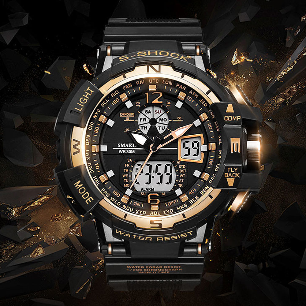 Top Brand Smael Watch Fashion Sport Watch Men 2020 Clock Male LED Digital Quartz Watches Men Waterproof Watch Relogio Masculino
