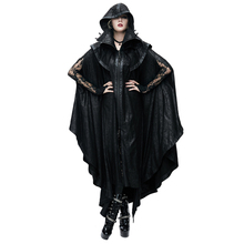 New Style Punk Women Black Mysterious Loose Long Cloak Coats Gothic Halloween Men's Bat Cape Casual Couples Trench Coats