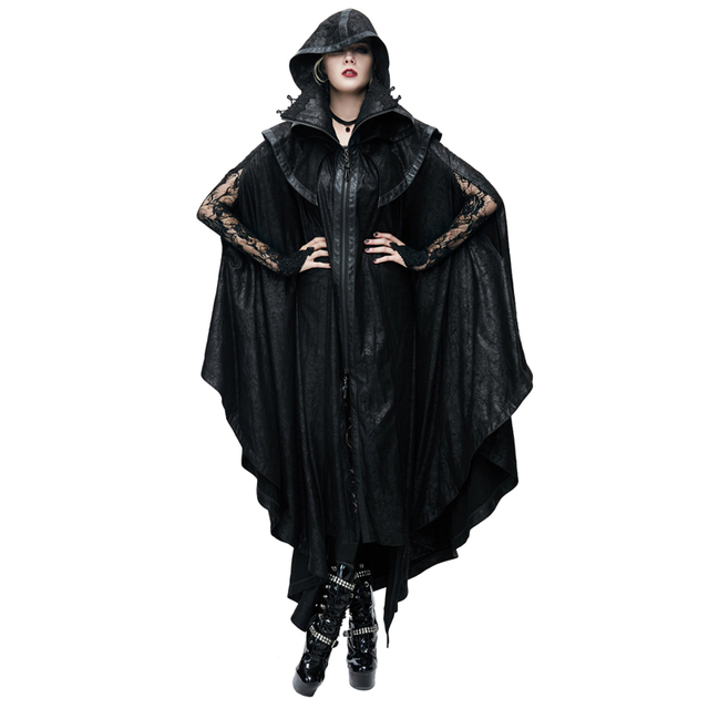 New Style Punk Women Black Mysterious Loose Long Cloak Coats Gothic  Halloween Men s Bat Cape Casual Couples Trench Coats eebbf043c