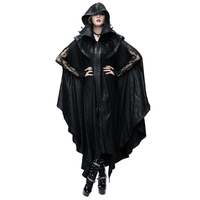 New Style Punk Women Black Mysterious Loose Long Cloak Coats Gothic Halloween Men's Bat Cape Casual Couples Trench Coats