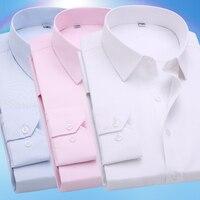 2016 Spring Classic Men Striped Dress Shirt Long Sleeve Turn Down Collar Regular Fit Mens Business