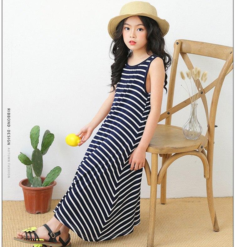 da4aca62d Vestido grande de algodón para niña 2019 Vestido de playa de verano Vestido  largo de fiesta de ...
