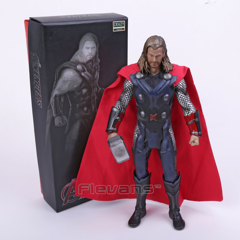 Crazy Toys Acengers Age of Ultron Thor PVC Action Figure Collectible Model Toy 12 crazy toys acengers age of ultron thor pvc action figure collectible model toy 30cm kt3112