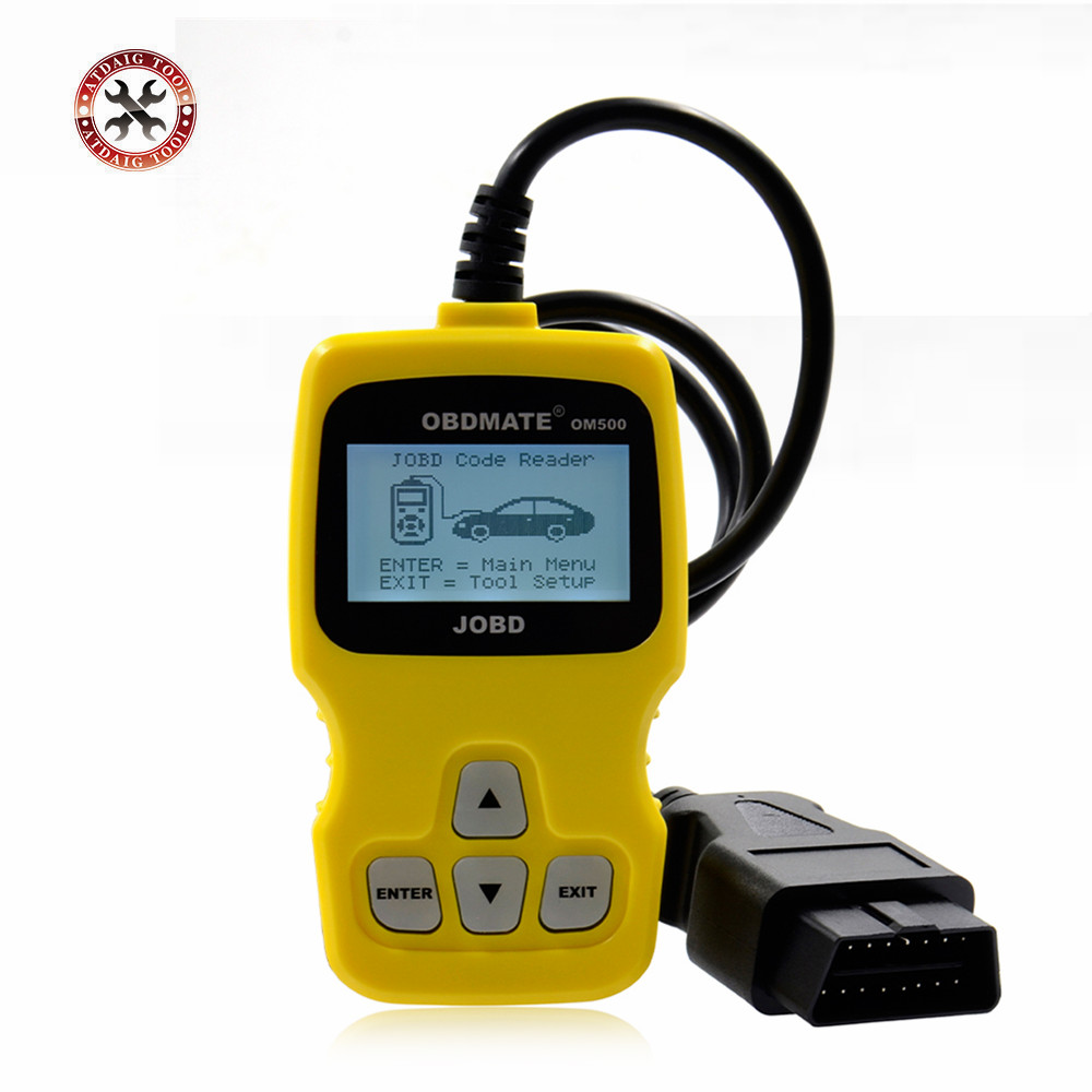 Цена за Цена завода Код Читателя OBDMATE OM500 JOBD/OBDII/EOBD Авто Сканер Бесплатная Доставка