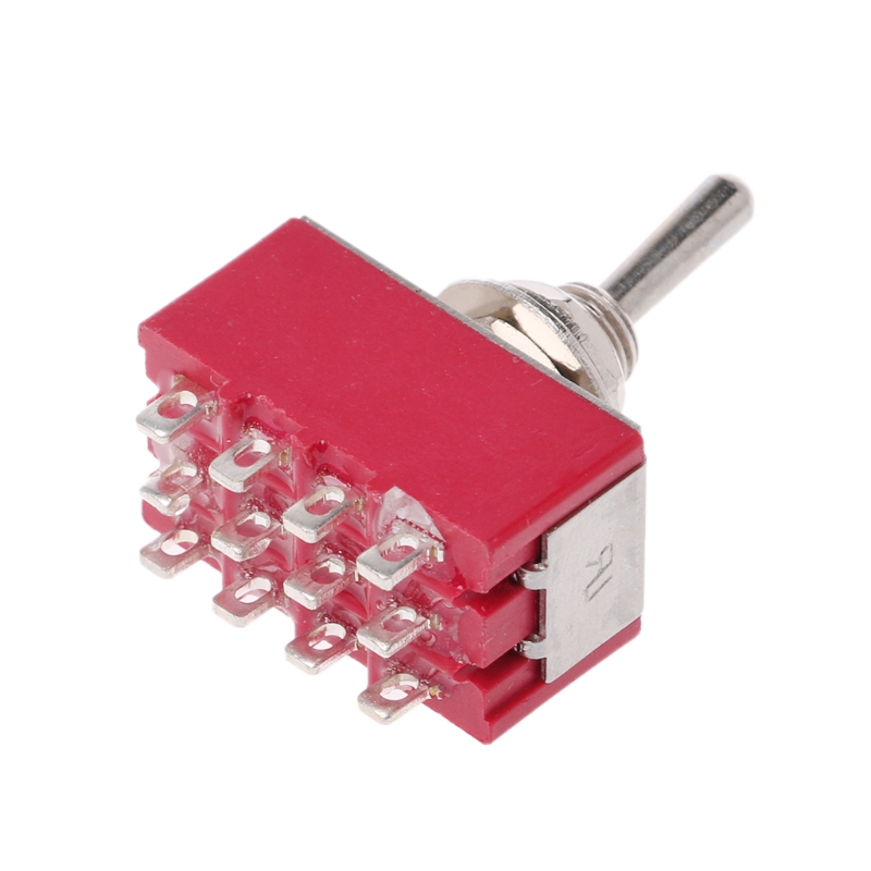 MTS-403 On-Off-On Mini Miniature Toggle Switch 3 Position 4PDT Rocker Switch image