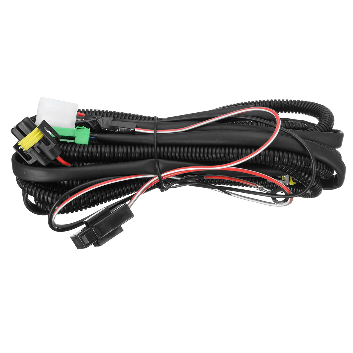 h11 fog light wiring harness sockets wire led indicators switch automotive relay for ford honda nissan acura [ 1200 x 1200 Pixel ]