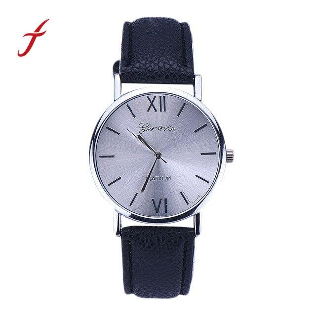 xiniu New Fashion Luxury Brand Casual Faux Leather Strap Analog Quartz Wrist Wat