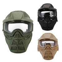 WoSporT Tactical Outdoor Lens Mask Full Face Breathable CS Hunting Military Army Airsoft Protection Masks Paintball