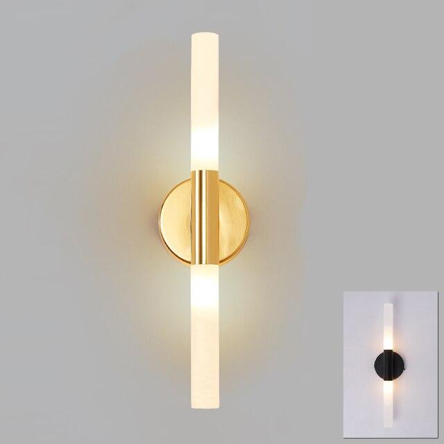 Lâmpada de led de parede, tubo de metal moderno para baixo, luz para parede, para quarto, lavador, sala de estar, banheiro lâmpada led de led