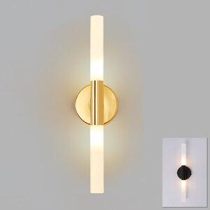 Image 1 - Modern metal tube pipe up down LED wall lamp light sconce Bedroom foyer washroom living room toilet bathroom wall light lamp LED