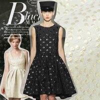 High end star big love black fashion gold round jacquard fashion fabric new blonde / black fashion fabric coat price preferred f
