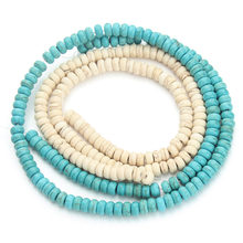 Approx.100Pcs/pack 3*6mm Loose Natural Stone Green Created Beads For Jewelry Making DIY Necklace and Bracelets Wholesale F1203(China)